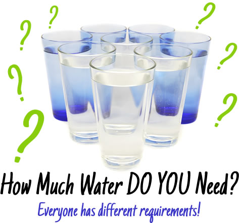 How Much Water DO YOU Need? Everyone has different requirements!